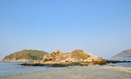 Rocks and stones at the phuket beach Stock Photo