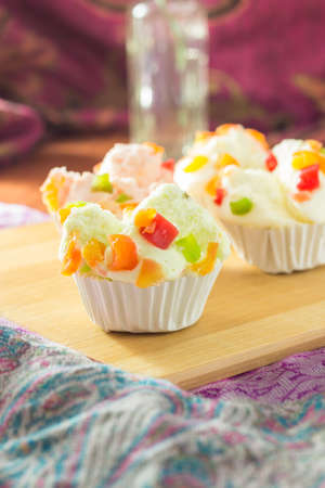 mix fruit: mix fruit muffins on table