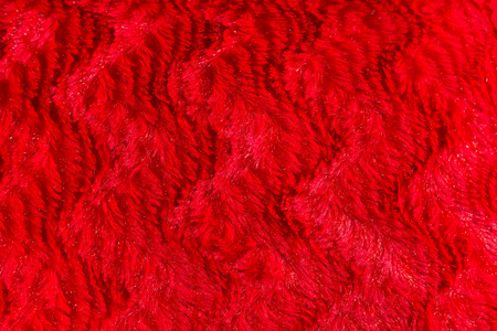 faux: red faux fur texture background Stock Photo