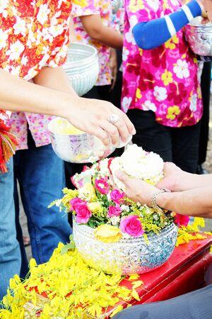 Songkran Festival in Thailand Stock Photo