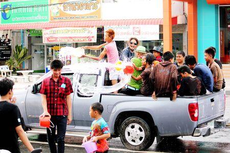 songkran: Songkran Festival in Thailand Editorial