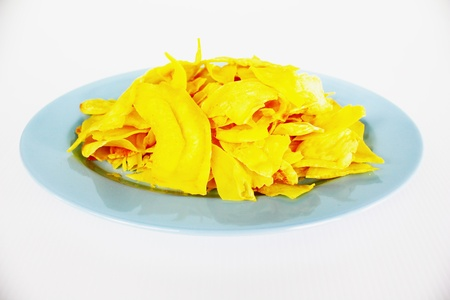 Durian chips Stock Photo