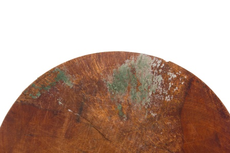 occurs: Fungus occurs on a wooden cutting board