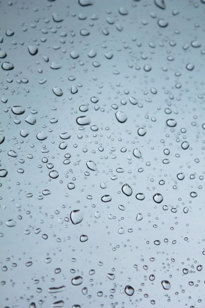 Water droplets on glass photo