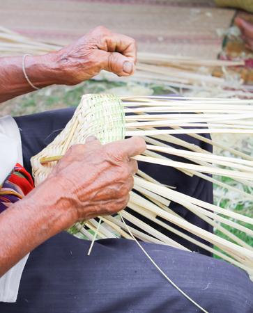 Basket weaving photo