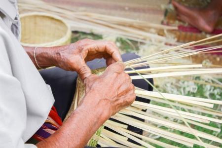 Basket weaving; photo