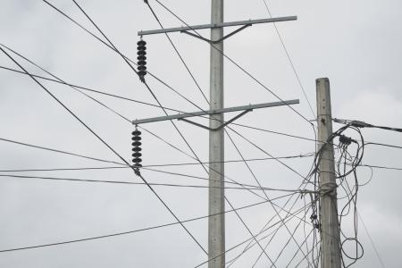 electricity post Archivio Fotografico