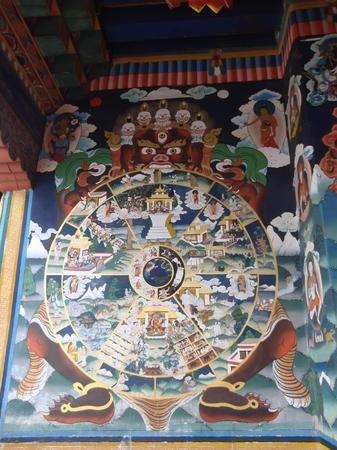 murals: Murals in the Temple of Bhutan