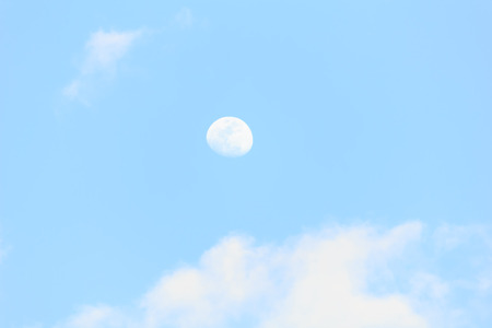 Moon in the daytime photo