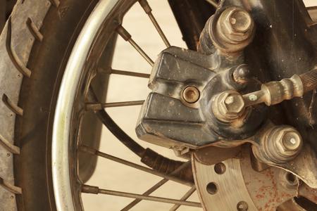 Motorcycle disc brakes photo