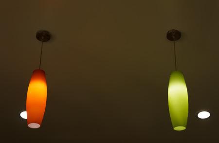 lighting fixtures: Ceiling light Stock Photo