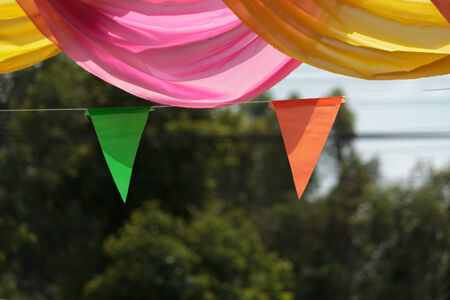 Ribbons for decorations in festival photo
