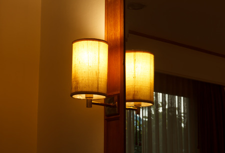 Lamps in the bedroom photo