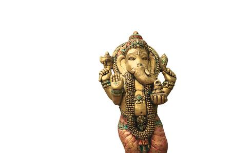 Ganesha  on a white background Foto de archivo