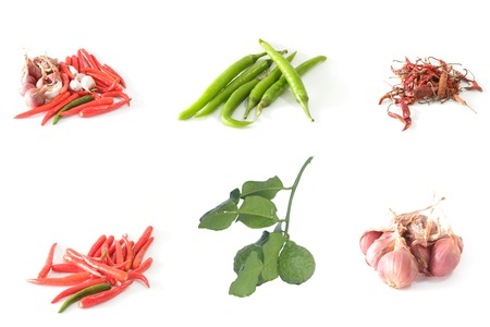 red pepper,dried Chilli,green peppers,garlic,shallots,Bergamot photo