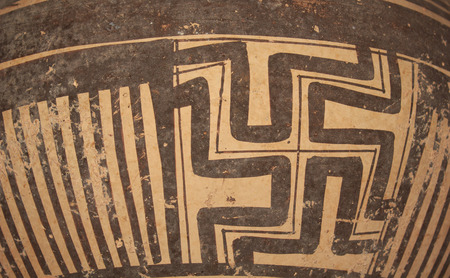 Pattern on ancient pottery