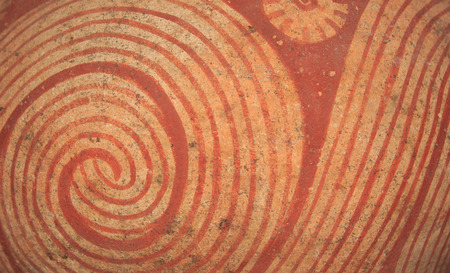 Pattern on ancient pottery photo