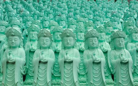 Statue of Guanyin green