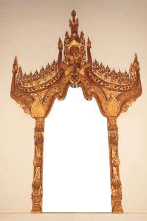 mirror frame: Antique mirror frame on white background