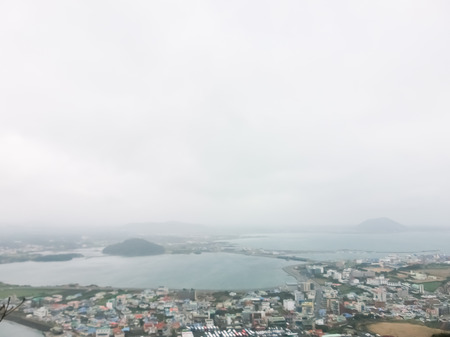 Winter landscape of Jeju Island South Korea photo