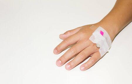 アーム患者の生理食塩水針