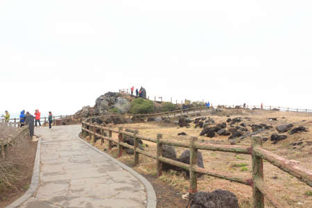 Walkway for sightseeing on the island of Jeju South Korea
