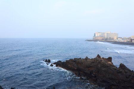 Winter landscapes in Jeju Island  South Korea