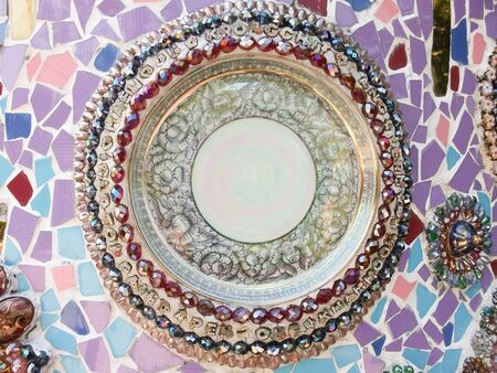 Background made of beautiful jewelry and chinaware