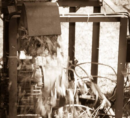 Machines for cutting grass Stok Fotoğraf - 50882312