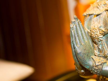angel statue: Angel statue with hands clasped