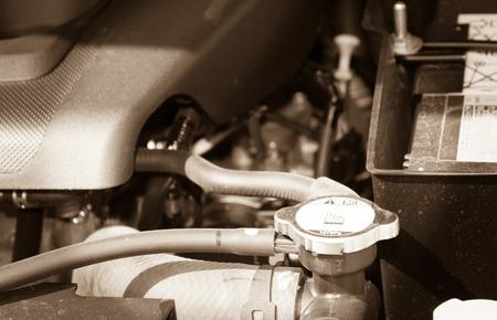 radiador: radiador del coche para la refrigeración Foto de archivo