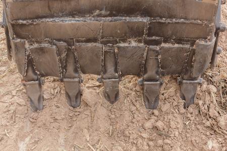 loader: Bucket Loader Backhoes Stock Photo