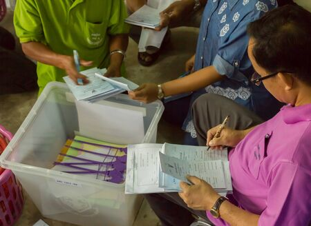 Authorities checking equipment referendum was held on August 7, 2016 in Thailand.