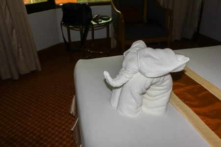made: Elephant made from towels