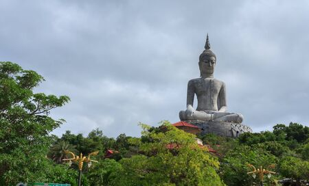Buddha statue on the mountains of Thailand.