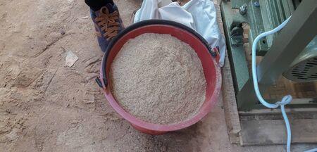 Bran from rice mill Stok Fotoğraf