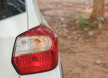 Automobile tail lamps Stock Photo