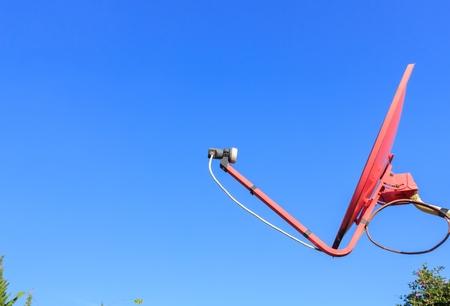 satelite: Satellite dish with blue sky