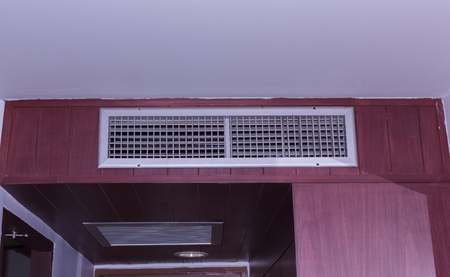 Air duct in the bedroom Banque d'images