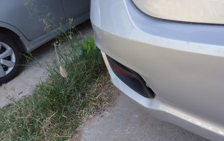 car was hitting the rear.