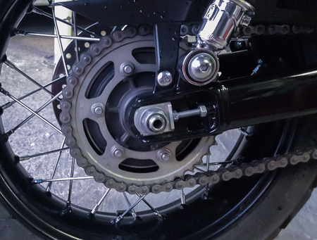 Rear axle wheel motorcycle.