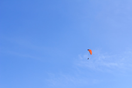 People play glider in the sky