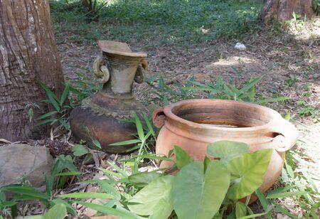 Water jar for garden decoration.