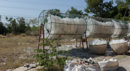 Plastic bag to dry for recycling.