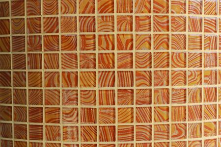 Beautiful patterns on the walls made of tiles. Stock Photo