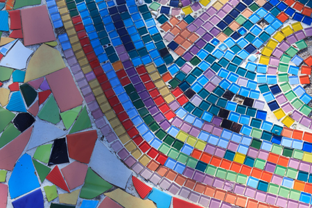 Colorful tile floor.
