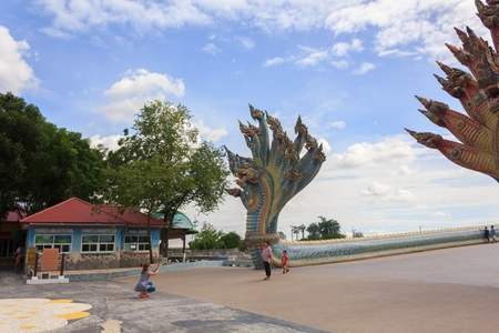 Many tourists visit the beautiful Ban Rai temple in Thailand.Nakhonratchasima,Thailand, June 25,2017 新聞圖片
