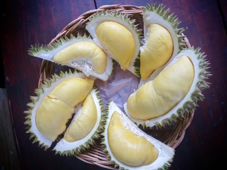 Thailand durian fruits of good taste. Stock Photo