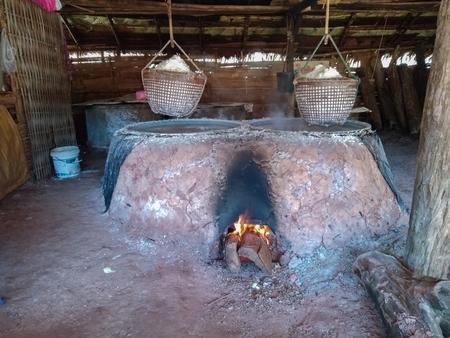 Traditional production of salt Stok Fotoğraf - 119599869
