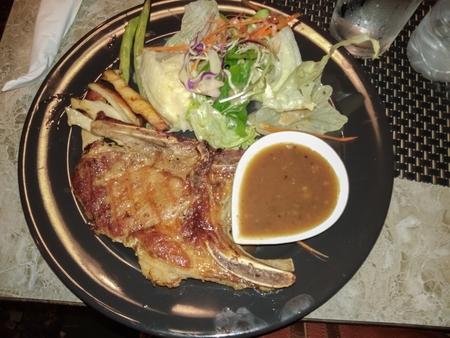 Steak in the plate Stok Fotoğraf